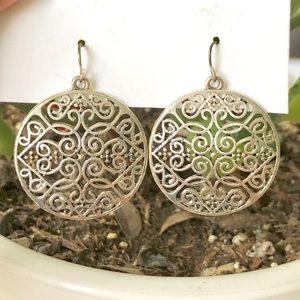 Jewelry - Filigree Silver Drop Earrings